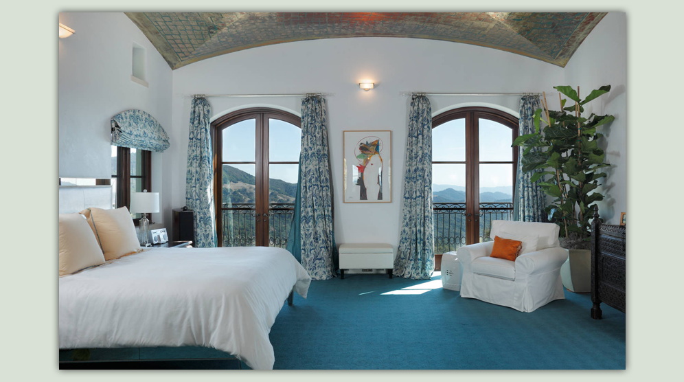 Operating draperies allow for privacy while preserving this spectacular view.